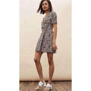 Topshop Leopard Print Mini Wrap Dress